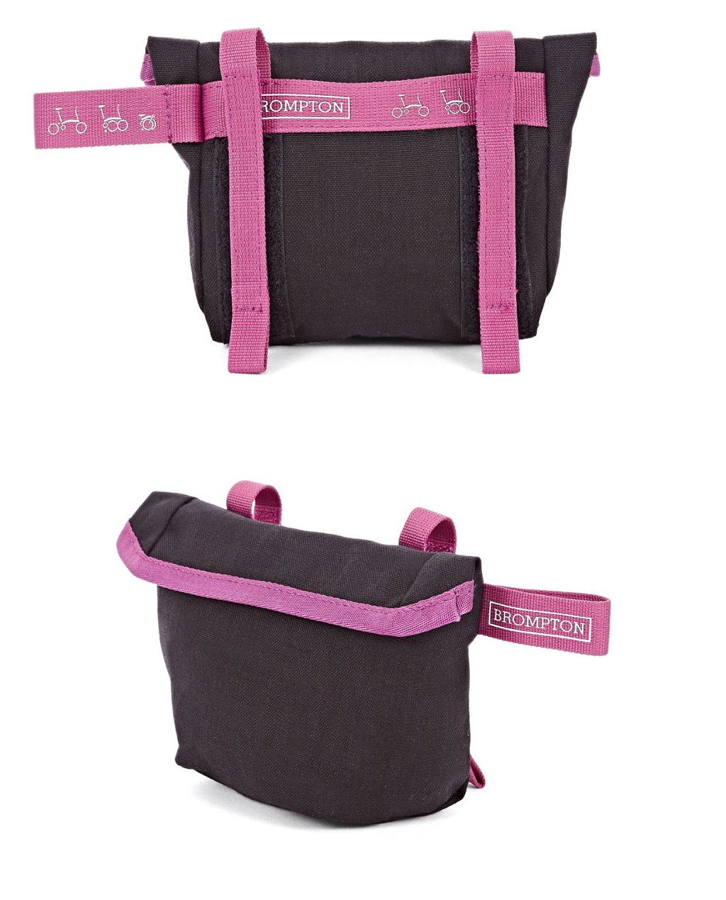 Q-Parts - Saddle Pouch - Black/Berry Crush