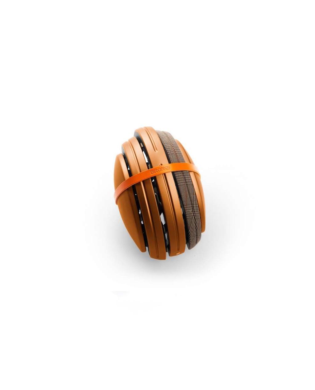 Brooks - Carrera Foldable Helmet - Copper / Brown Prince of Wales