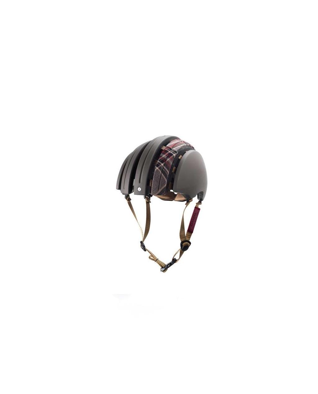 Brooks - Carrera Foldable Helmet - Dark Grey / Grey Tartan