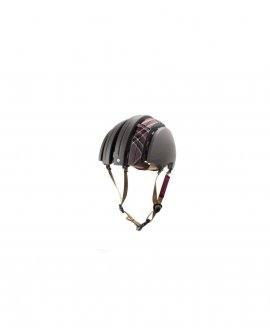 Brooks - Carrera Foldable Helmet - Dark Grey / Grey Tartan