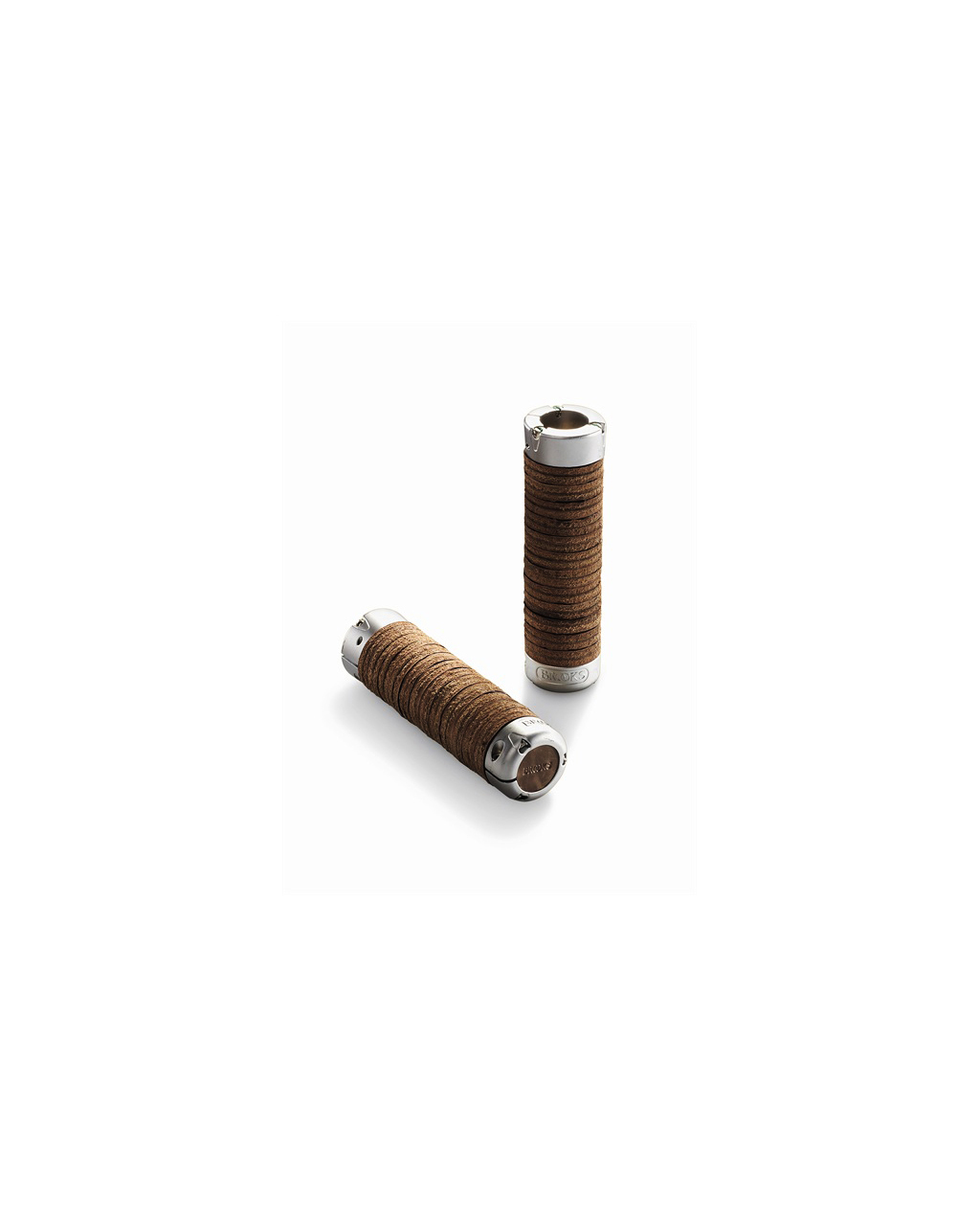 Brooks Plump Leather Grips - Antique Brown