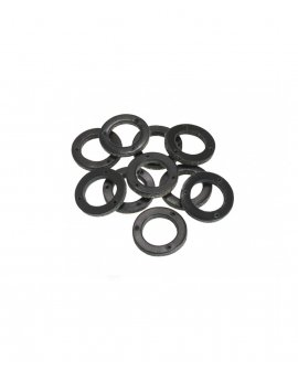 Brooks Black Leather Ring for Handlebar Grip (10 pieces) - BYB 331