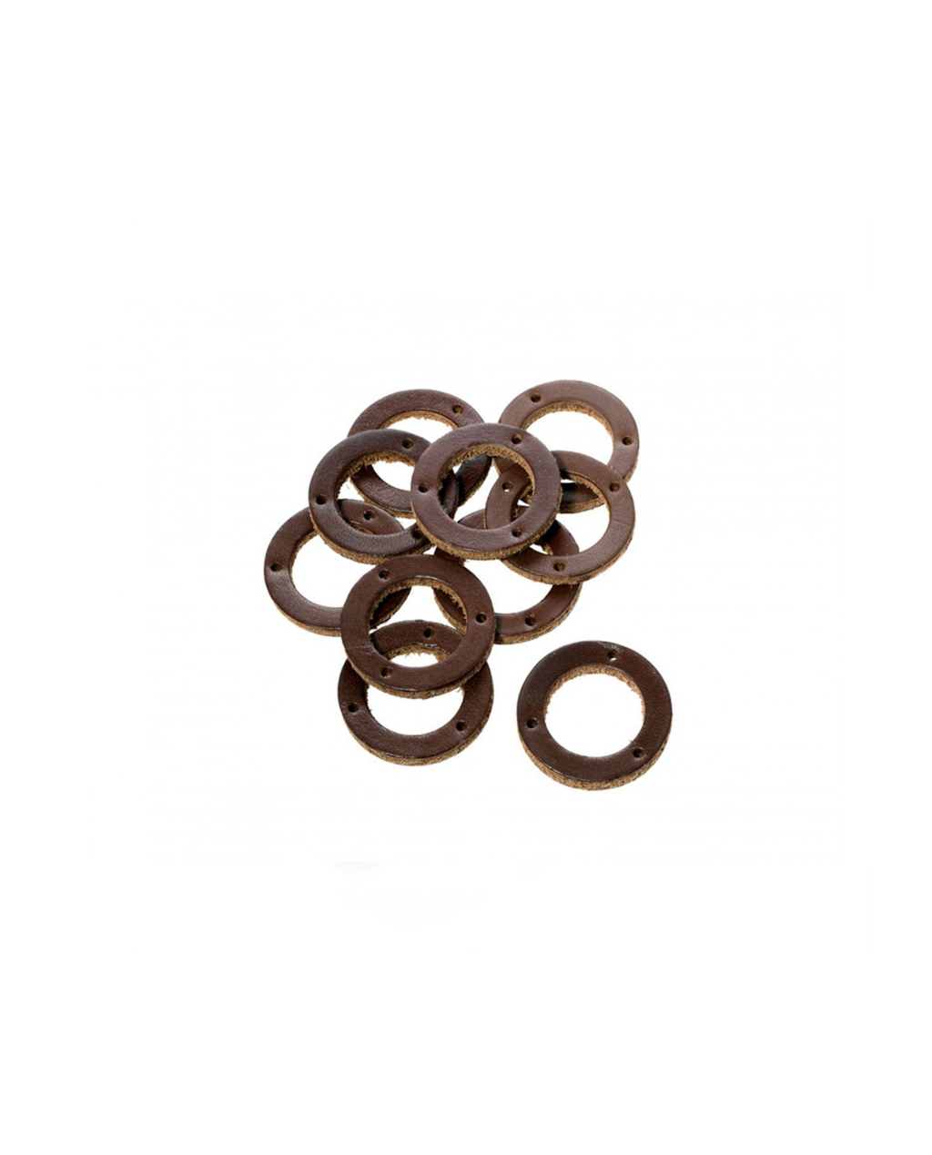 Brooks Brown Leather Ring for Handlebar Grip (10 pieces) - BYB 333