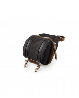 Brooks Isle of Wight Saddle Holdall - Medium - Black/Brown