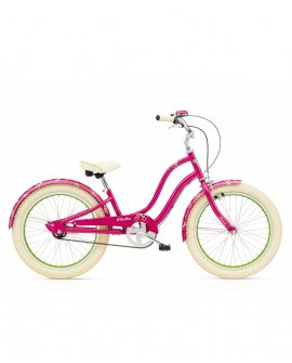 "Electra Cherie 3i Kids Girls 20"" Hot Pink"