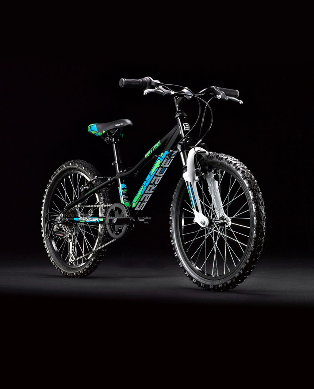 "Saracen Rufftrax 20"" Boys - Black/Blue"